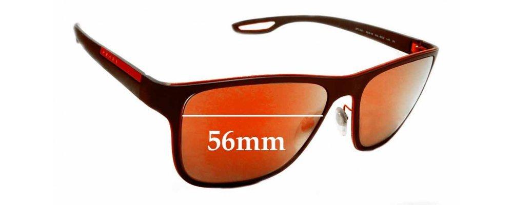 Prada SPS56Q Replacement Sunglass Lenses - 56mm wide