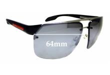 Sunglass Fix Replacement Lenses for Prada SPS 57O - 64mm wide