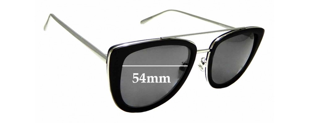 Sunglass Fix New Replacement Lenses for Quay Australia French Kiss - 54mm Wide
