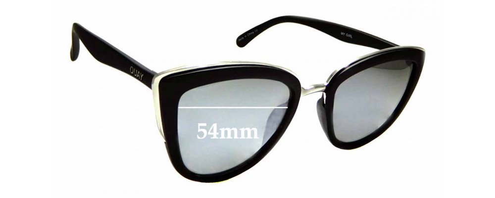 Sunglass Fix New Replacement Lenses for Quay Australia My Girl - 54mm Wide