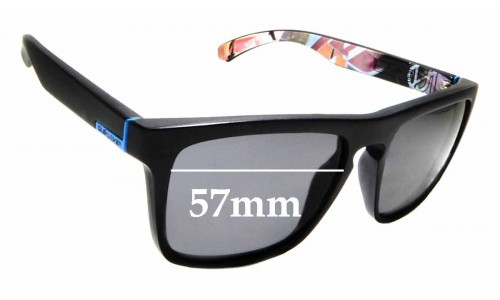 Sunglass Fix Replacement Lenses for Quiksilver The Ferris QS1127 - 57mm wide
