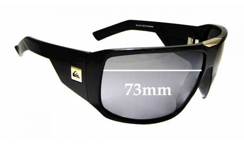 Sunglass Fix Replacement Lenses for Quiksilver The Whopper - 73mm Wide