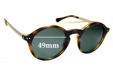 Sunglass Fix Replacement Lenses for Ralph Lauren Polo PH4122 - 49mm wide
