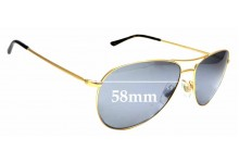 Sunglass Fix Replacement Lenses for Polo PH 3084 - 58mm wide