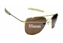 Sunglass Fix Replacement Lenses for Randolph Engineering Aviator RE 5 1/2 - 55mm wide