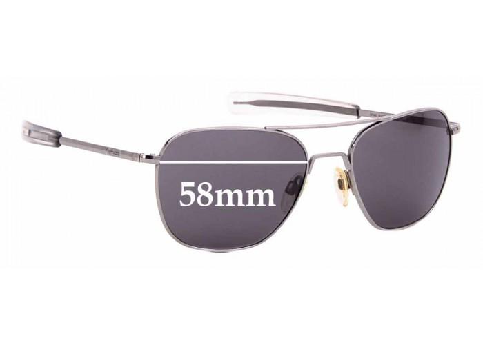 55mm W SFx Replacement Sunglass Lenses fits Randolph Engineering Aviator REUSA
