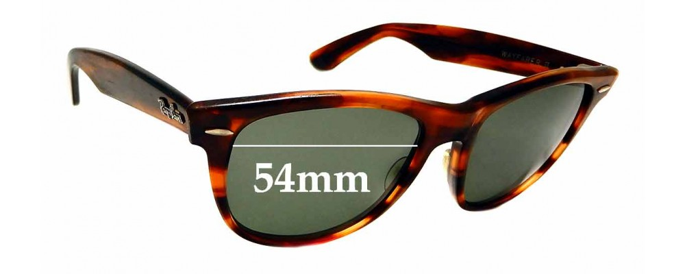 Sunglass Fix Replacement Lenses for Ray Ban Wayfarer II USA B&L - 54mm wide