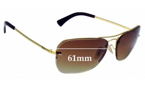 Sunglass Fix Replacement Lenses for Ray Ban RB3541 - 61mm wide