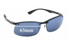 Sunglass Fix Replacement Lenses for Ray Ban RB8314 - 63mm Wide * Professional Installation Recommended*