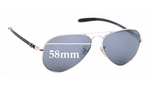 Sunglass Fix Replacement Lenses for Ray Ban RB8317-CH - 58mm Wide