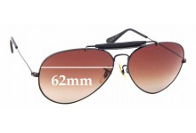 Sunglass Fix New Replacement Lenses for Ray Ban B&L Outdoorsman - 62mm Wide