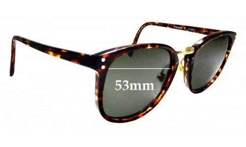 Sunglass Fix Replacement Lenses for Ray Ban B&L Premier D W0861 - 53mm Wide