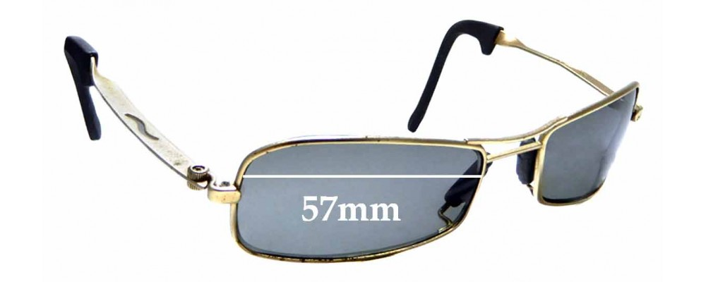 Sunglass Fix Replacement Lenses for Ray Ban Bausch & Lomb Orbs Axis Square - 56mm Wide