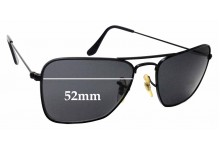Sunglass Fix Replacement Lenses for Ray Ban Caravan Small RB3136 Square Aviators - 52mm Wide