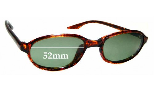 Sunglass Fix Replacement Lenses for Ray Ban B&L W2838 - 52mm wide