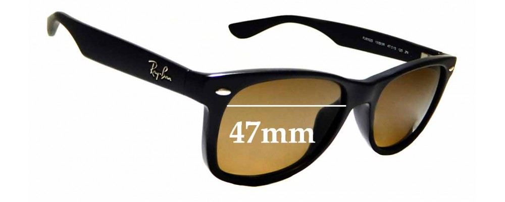 Sunglass Fix Replacement Lenses for Ray Ban Jr RJ9052S- 47mm wide