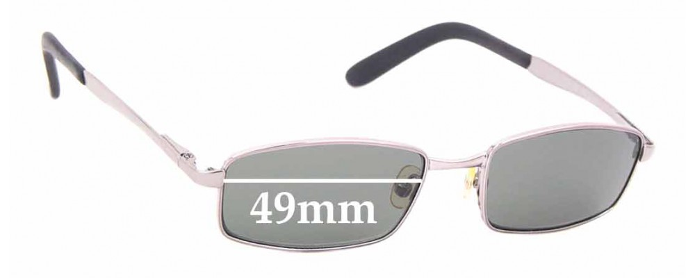 Sunglass Fix Replacement Lenses for Ray Ban Jr RJ9504S - 49mm wide
