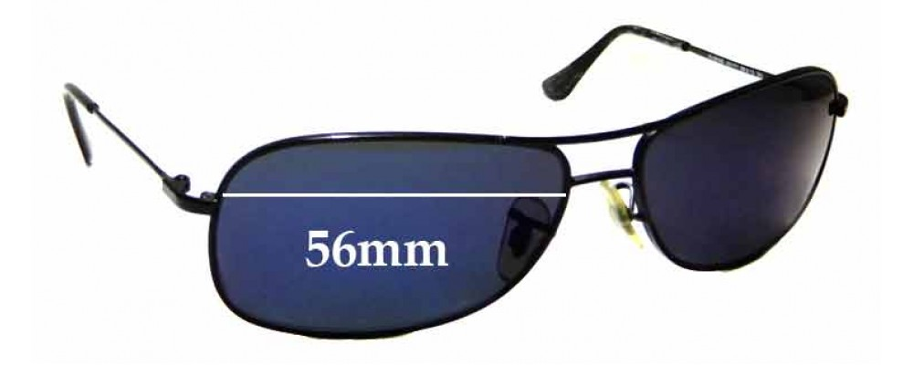 Sunglass Fix Replacement Lenses for Ray Ban Jr RJ9508S - 56mm wide