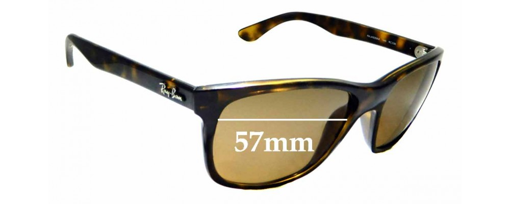 Sunglass Fix Replacement Lenses for Ray Ban RAJ4935AA - 57mm wide