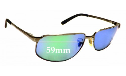 Sunglass Fix Replacement Lenses for Ray Ban RAM2062AA RC001 - 59mm Wide 35mm high