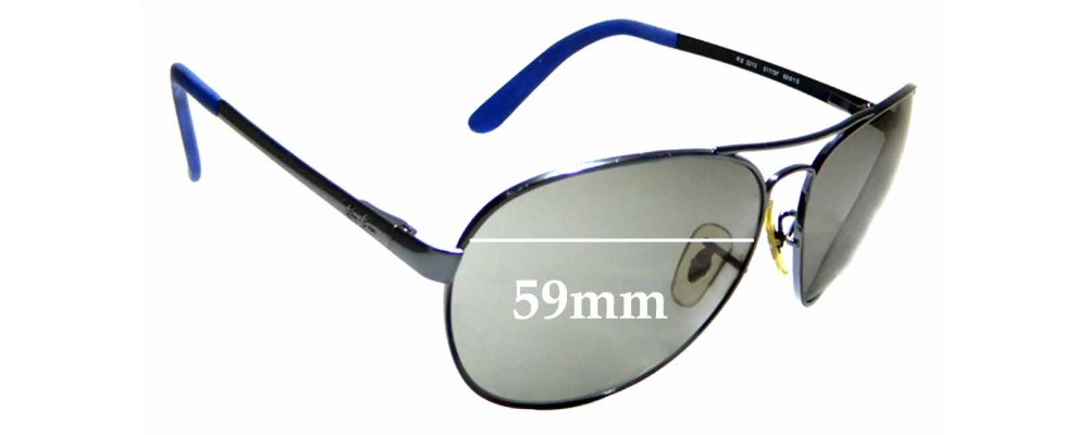 Sunglass Fix Replacement Lenses for Ray Ban RB 3213 - 59mm Wide