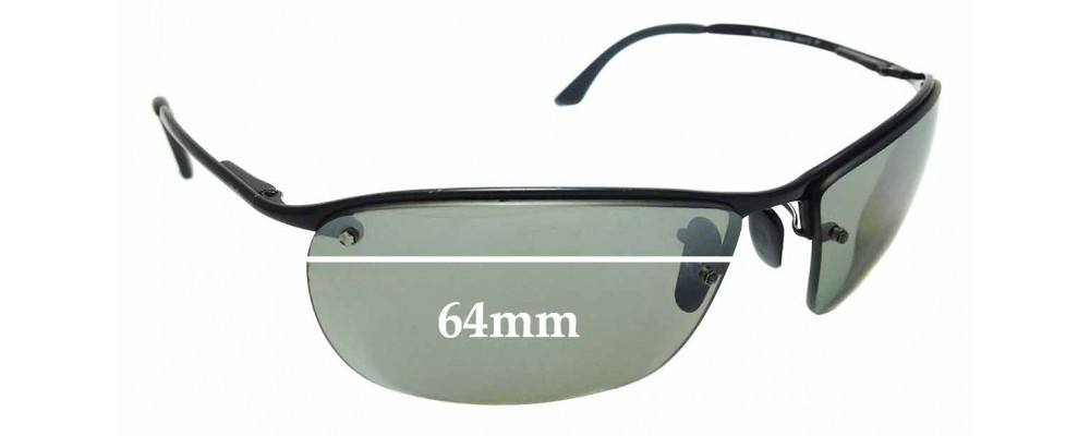Sunglass Fix Replacement Lenses for Ray Ban RB3544 - 64mm Wide