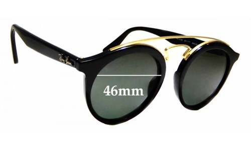 Sunglass Fix Replacement Lenses for Ray Ban RB 4256 Small - 46mm wide