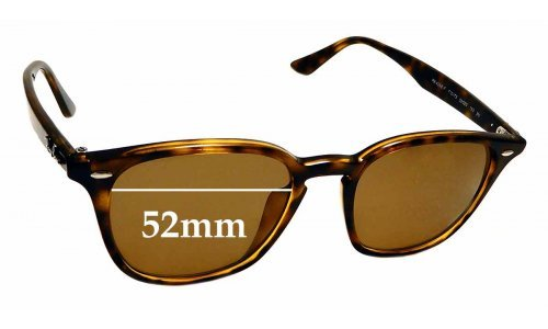 Sunglass Fix Replacement Lenses for Ray Ban RB4258-F - 52mm wide