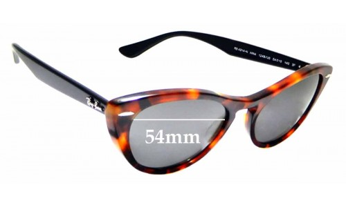 Sunglass Fix Replacement Lenses for Ray Ban RB 4314-N Nina - 54mm wide