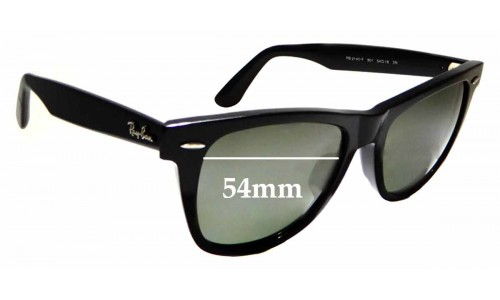 Sunglass Fix Replacement Lenses for Ray Ban RB2140-F Wayfarer 54mm wide