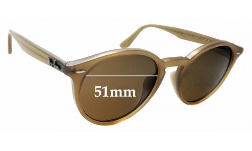 Sunglass Fix Replacement Lenses for Ray Ban RB2180 - F - 51mm wide