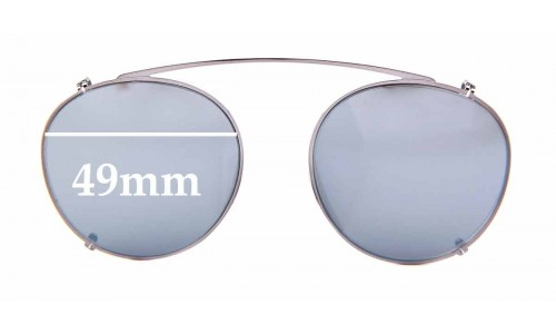 Sunglass Fix Replacement Lenses for Ray Ban RB2447-C Clip on - 49mm wide