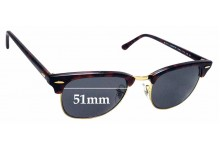 1b387586444 Sunglass Fix Replacement Lenses for Ray Ban WO366 RB3016 Clubmaster - 51mm  Wide