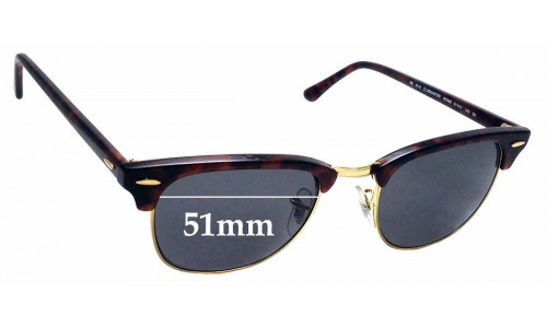 Sunglass Fix Replacement Lenses for Ray Ban WO366 Bausch Lomb - 51mm wide