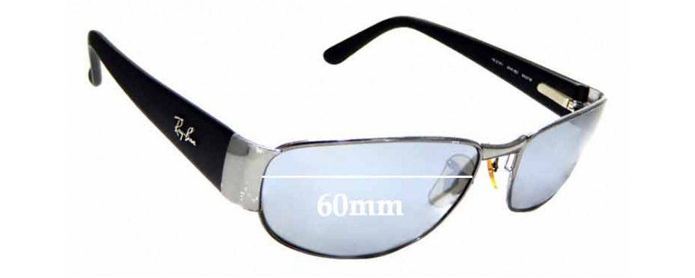 Sunglass Fix Replacement Lenses for Ray Ban RB3141 - 60mm wide