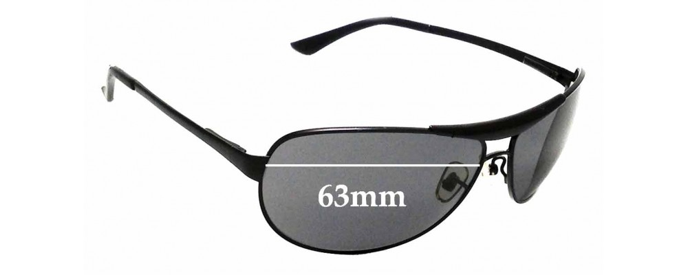 Sunglass Fix Replacement Lenses for Ray Ban RB 3324 - 63mm Wide