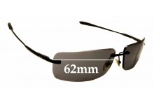 Sunglass Fix Replacement Lenses for Ray Ban RB3344 - 62mm Wide