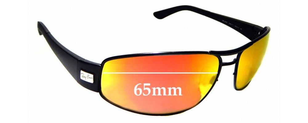 Sunglass Fix Replacement Lenses for Ray Ban RB3395 - 65mm Wide