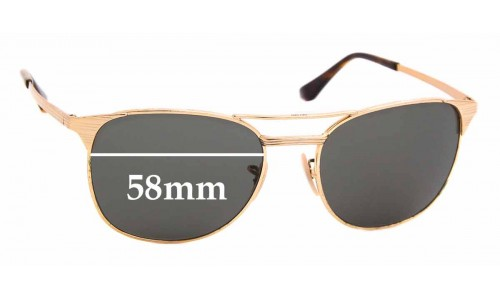 Sunglass Fix Replacement Lenses for Ray Ban RB3429-M - 58mm wide