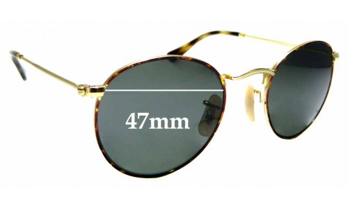 Sunglass Fix Replacement Lenses for Ray Ban RB3447V - 47mm wide