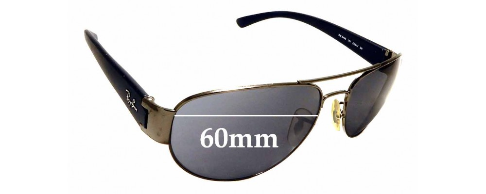 Sunglass Fix Replacement Lenses for Ray Ban RB3448 - 60mm Wide