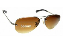 Sunglass Fix Replacement Lenses for Ray Ban Aviators RB3449 - 56mm across
