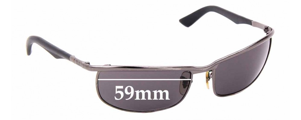 Sunglass Fix Replacement Lenses for Ray Ban RB3459 - 59mm wide