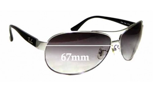 Sunglass Fix Replacement Lenses for Ray Ban RB3464 - 67mm Wide