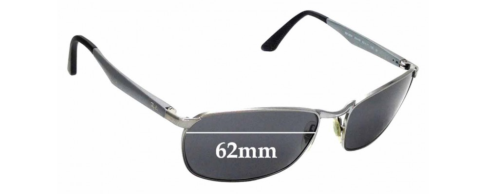 Sunglass Fix Replacement Lenses for Ray Ban RB3534 - 62mm wide