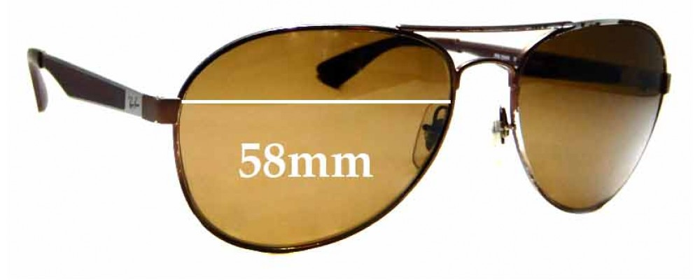 Sunglass Fix Replacement Lenses for Ray Ban RB3549 - 58mm Wide