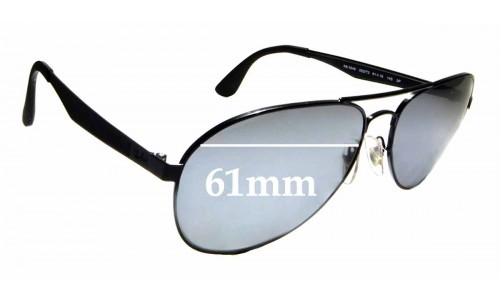 Sunglass Fix Replacement Lenses for Ray Ban RB3549 - 61mm wide