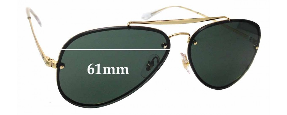 Sunglass Fix Replacement Lenses for Ray Ban RB3584-N- 61mm wide