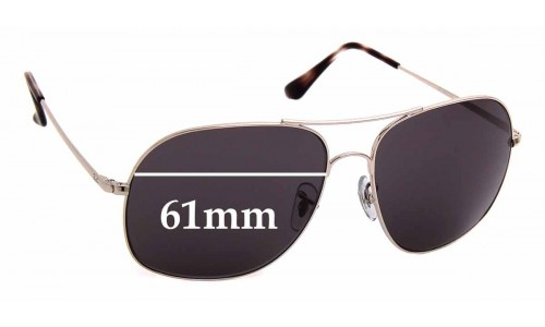 Sunglass Fix Replacement Lenses for Ray Ban RB3587-CH - 61mm wide