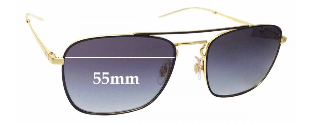 7ab6030ee7d Sunglass Fix Replacement Lenses for Ray Ban RB3588 - 55mm Wide ...